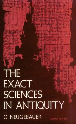Exact Sciences in Antiquity  2nd (Reprint) edition cover