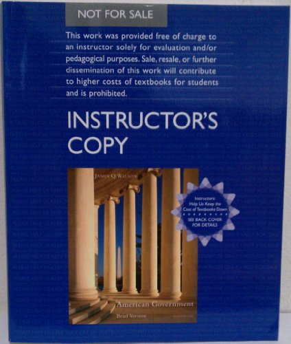 American Government Institutions and Policies 8th 2008 9780618730322 Front Cover