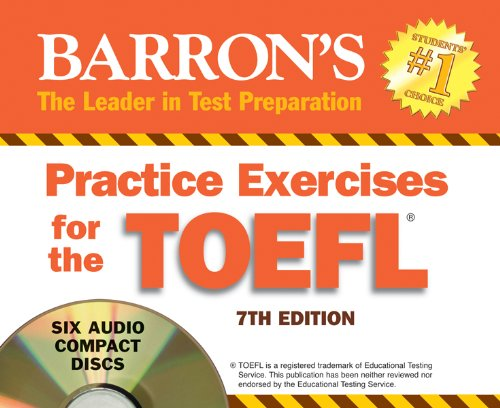 Practice Exercises for the Toefl:  2011 edition cover