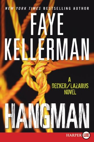 Hangman A Decker/Lazarus Novel Large Type  9780061979323 Front Cover