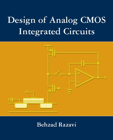 Design of Analog CMOS Integrated Circuits   2001 edition cover