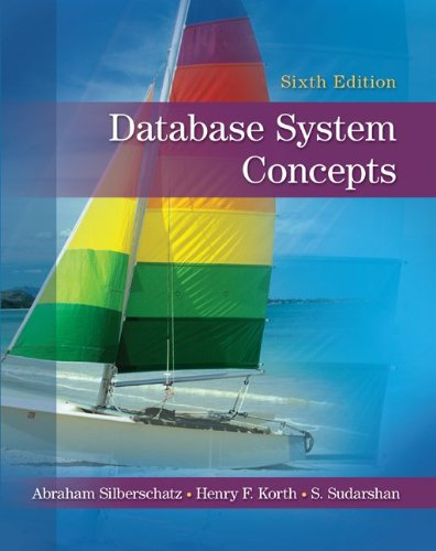 Database System Concepts  6th 2011 edition cover