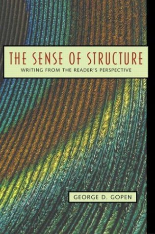 Sense of Structure Writing from the Reader's Perspective  2004 edition cover