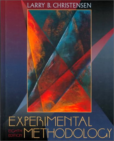 Experimental Methodology  8th 2001 edition cover