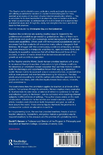 Teacher and the World A Study of Cosmopolitanism as Education  2012 9780415783323 Front Cover
