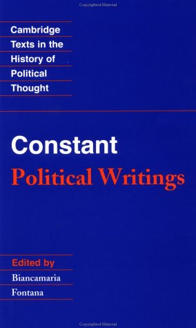 Constant Political Writings  1988 edition cover
