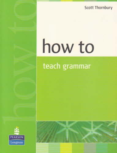 How to Teach Grammar   1999 edition cover