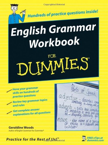 English Grammar Workbook for Dummies   2006 edition cover