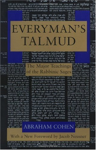 Everyman's Talmud The Major Teachings of the Rabbinic Sages  1995 edition cover