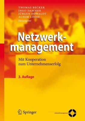 Netzwerkmanagement Mit Kooperation Zum Unternehmenserfolg 3rd 2011 edition cover