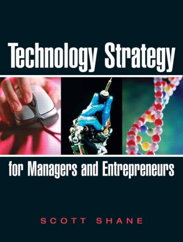 Technology Strategy for Managers and Entrepreneurs   2009 edition cover