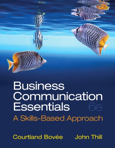 Business Communication Essentials:   2013 9780132971324 Front Cover