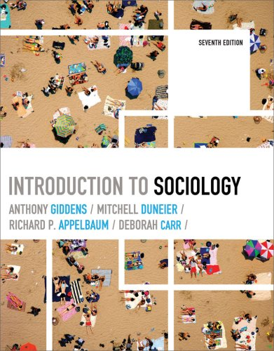 Introduction to Sociology  7th 2009 edition cover