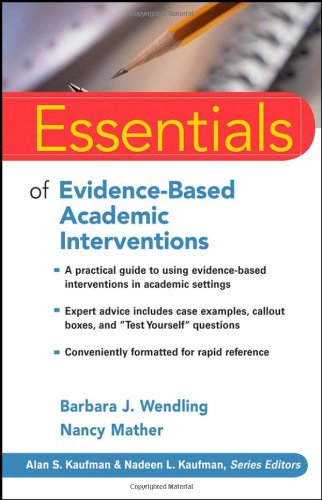 Essentials of Evidence-Based Academic Interventions   2009 edition cover
