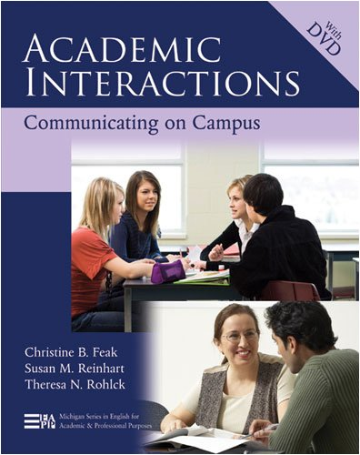Academic Interactions Communicating on Campus  2009 edition cover