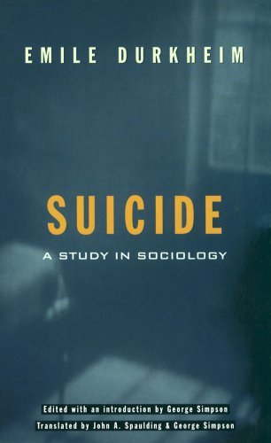 Suicide A Study in Sociology  1997 edition cover