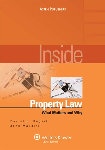Inside Property Law What Matters and Why  2009 (Student Manual, Study Guide, etc.) edition cover