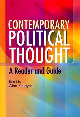 Contemporary Political Thought A Reader and Guide  2003 edition cover