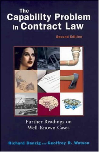 Capability Problem in Contract Law, 2004  2nd 2004 (Revised) edition cover