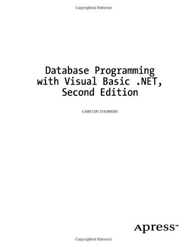 Database Programming with Visual Basic . NET  2nd 2003 edition cover