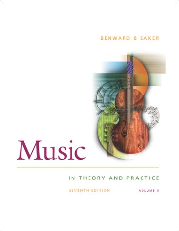 Music in Theory and Practice:  7th 1997 edition cover