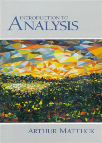 Introduction to Analysis   1999 edition cover