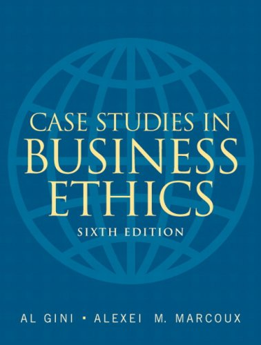 Case Studies in Business Ethics  6th 2009 edition cover
