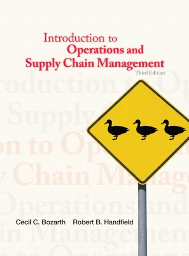 Introduction to Operations and Supply Chain Management  3rd 2013 (Revised) 9780132747325 Front Cover
