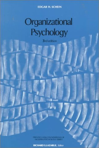 Organizational Psychology  3rd 1980 (Revised) 9780136413325 Front Cover