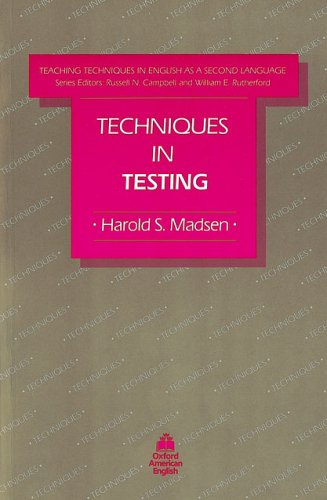 TECHNIQUES IN TESTING   1983 9780194341325 Front Cover