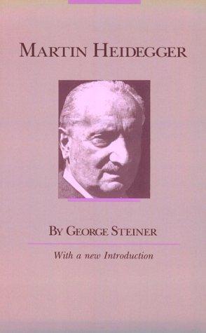 Martin Heidegger  Reprint 9780226772325 Front Cover