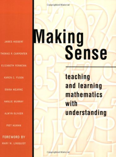 Making Sense Teaching and Learning Mathematics with Understanding  1997 edition cover