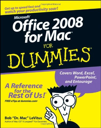 Office 2008 for Mac for Dummies   2008 edition cover