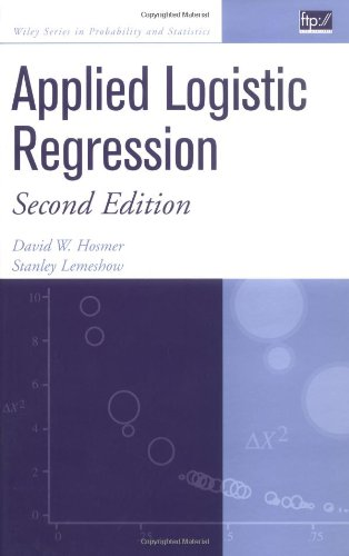 Applied Logistic Regression  2nd 2000 (Revised) edition cover