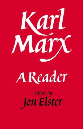 Karl Marx A Reader  1986 9780521338325 Front Cover