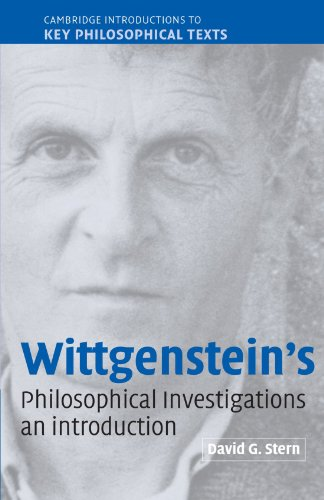 Wittgenstein's Philosophical Investigations An Introduction  2004 9780521891325 Front Cover
