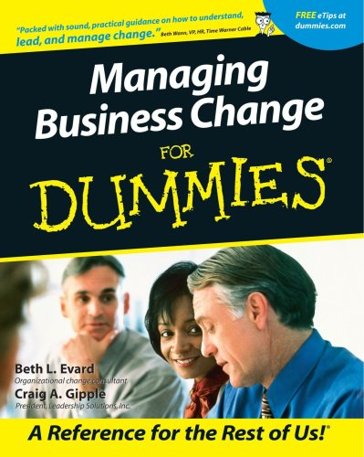 Managing Business Change for Dummies   2001 edition cover