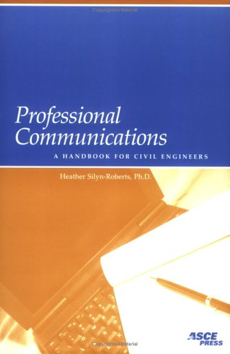Professional Communications A Handbook for Civil Engineers  2004 edition cover