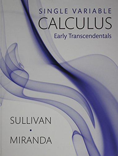 Single Variable Calculus Early Transcendentals  2013 edition cover