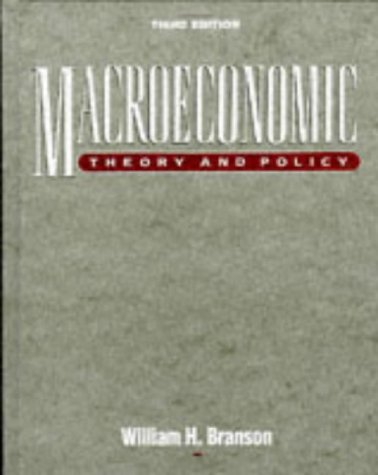 Macroeconomics Theory and Policy 3rd 1989 edition cover