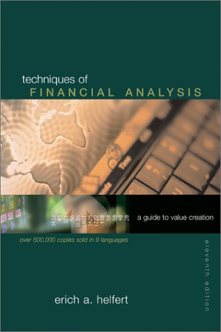 Techniques of Financial Analysis A Guide to Value Creation 11th 2003 (Revised) edition cover