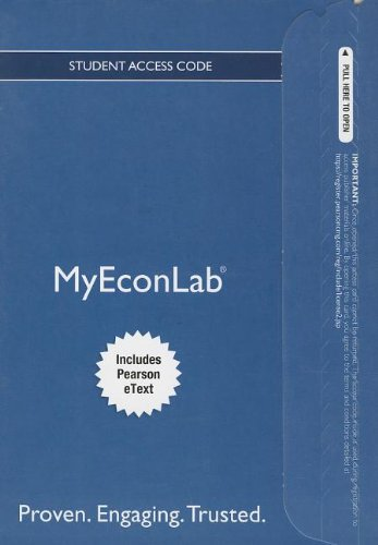 NEW MyEconLab with Pearson EText -- Access Card -- for Macroeconomics  8th 2014 edition cover