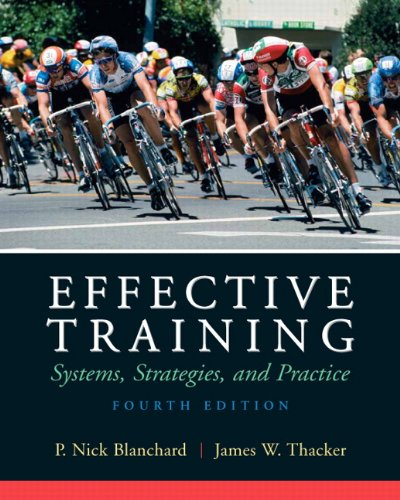 Effective Training System.Strategies, and Practice 4th 2010 edition cover