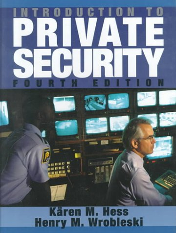 Introduction to Private Security  4th 1996 (Revised) 9780314067326 Front Cover