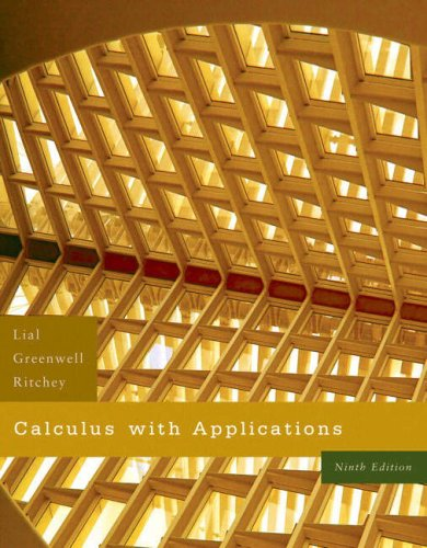 Calculus with Applications  9th 2008 edition cover