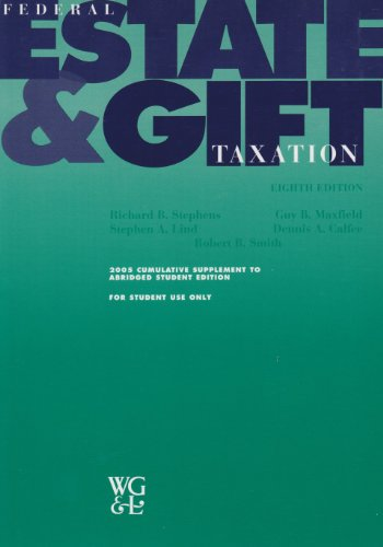 FED.ESTATE+GIFT TAX.-ABR.-W/20 8th 2002 9780791356326 Front Cover