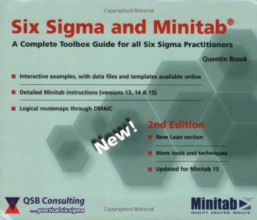 SIX SIGMA+MINITAB-TEXT 2nd 2007 edition cover
