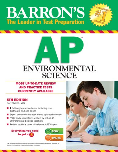 Barron's AP Environmental Science, 5th Edition  5th 2013 (Revised) edition cover