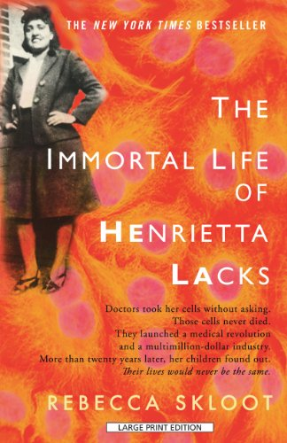 Immortal Life of Henrietta Lacks  Large Type edition cover