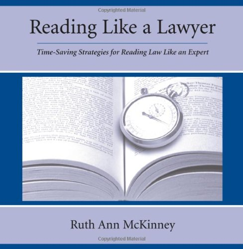 Reading Like a Lawyer Time-Saving Strategies for Reading Law Like an Expert  2005 edition cover